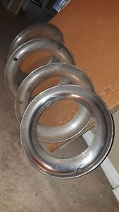 50 S 60 S 70 S 15 Beauty Rings Chevy Ford Dodge Rat Hot Rod Wide Trim Rings 4
