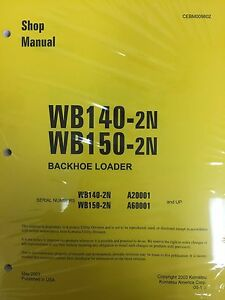 Komatsu Wb140ps 2n Wb150ps 2n Backhoe Service Shop Manual