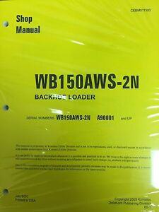 Komatsu Service Wb150aws 2n Backhoe Loader Shop Manual