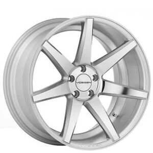 4rims 20 Staggered Vossen Wheels Cv7 Silver Polished Rims
