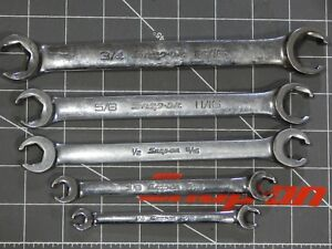 Snap On Tools Sae Flare Nut Line Wrench 5pc Set 1 4 5 16 3 8 3 4 13 16 Rxfs 6pt