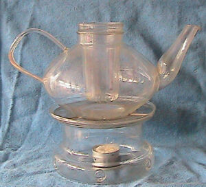 Schott Jena Glass Mainz Infusion Tea Pot W Warmer Candles Designed By Wagenfeld