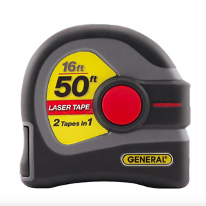 General Tools 16 Feet Tape Measure 50 Ft Laser Distance Measurer Measuring Tool