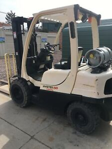 2006 Hyster S50ft 5000lb forklift Lpg Lift Truck With Oversized Tires For Dirt