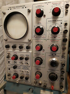 Vintage Tektronix Type 535a Oscilloscope With Scope mobile Type 202 2 Model B