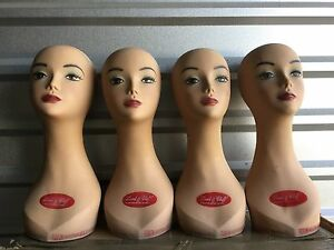 4 Used 18 Mannequin Display Upper Female Heads