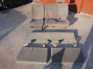1995 1996 1997 1998 Toyota T100 Tan 60 40 Front Bench Seats And Rear Jump Seats