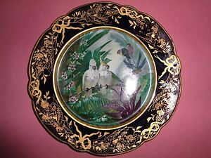 Antique French Sevres Porcelain Cabinet Plate 19th Century Artist Signed