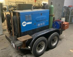 miller Big Blue 400 Diesel Welder Welding Rig Trailer Ready To Weld