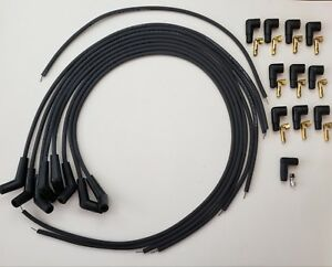 Bbc Chevy 396 427 454 Black Universal Spark Plug Wires 45 135 Degree Boot Points