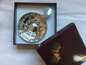 Sterling Silver Wine Taster S Cup L Espirit Levin With Box