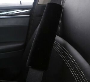 2 Piece Seat Belt Strap Faux Sheepskin Soft Cover Comfortable Soft Cushion