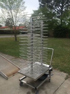 Roll in Stainless Steel Plate Cart 98 Plate Excellent Condition