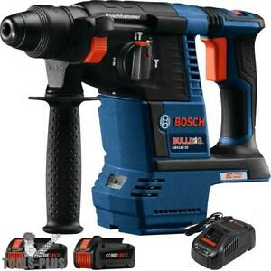 Bosch Gbh18v 26k24 18v 1 Sds plus Rotary Hammer Kit W 2 6 3 Ah Batts New