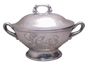 Tiffany Co Hand Hammered Japanesque Tureen With Handles