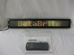 Adaptive Micro Systems Betabrite Electronic Color Message Display Sign 213c ci