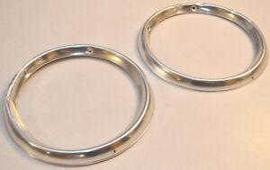 1964 Ford Galaxie Taillight Bezels Oem Pair Of Rear Lamp Lens Sleeve Trim Ring