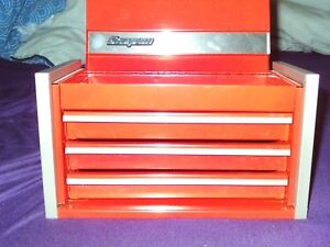 Snap On Red Mini Micro Top Chest Tool Box Rare