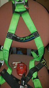 Miller Python Fall Protection Safety Harness 6 Self Retracting Lanyard Srl