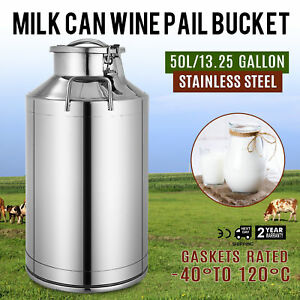 Stainless Steel Milk Can With Lid 50l Capacity