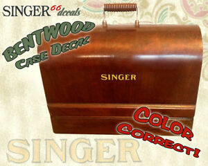 Bentwood Wood Case Color Correct Restoration Decals Singer Sewing Machine