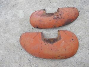 Allis Chalmers Ac Wd Tractor Original Pair Set Of Fenders W Mounting Brackets