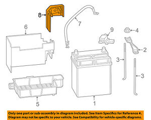 Honda Oem 15 17 Fit 1 5l l4 Battery ground Cable Cover 32418t9a003