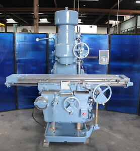14 X 68 Vertical Mill Milling Machining K t Kearney Trecker 310tf Dro 10hp
