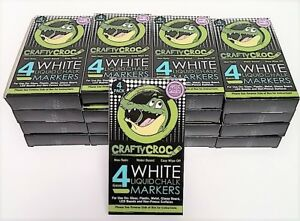Crafty Croc Wet Erase Liquid Chalk Markers White 17 Pk Of 4 68 Markers Total