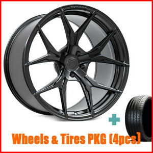 New 4 19 Staggered Rohana Rfx5 Matte Black Wheels And Tires