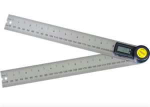 General Tools 10 Inch Digital Angle Finder Protractor Tool Ruler Stainless Steel