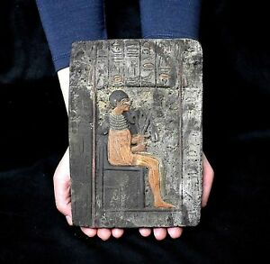 Ancient Egypt Antique Egyptian Plaque Pharaoh Akhenaten 1350 1100 Bc