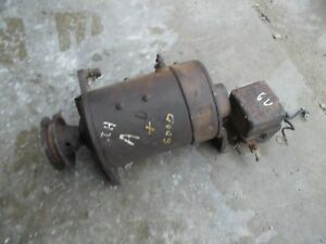 Farmall Ih A B C Bn Av Tractor Original 6v Working Generator Belt Drive Pulley
