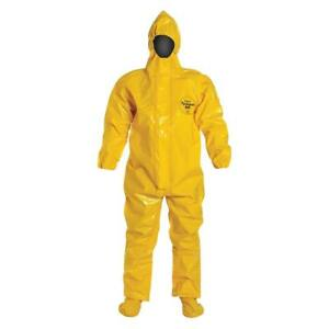 2pk Dupont Tychem Br128tyl2x000200 Br128t Hooded Coverall Yellow 2xl Hazmat Ppe