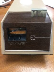 Vintage Pat Brand Automatic battery Tape Dispenser Office