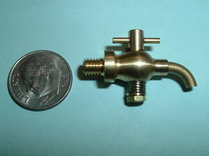 Mini Model Hit And Miss Gas Engine Brass Spouted Drain Valve 10 32 Thread