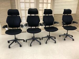 Humanscale Freedom Task Chair With Headrest Black Standard Arms