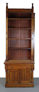 Victorian Renaissance Revival Bookcase Cabinet With Gothic Finials As I
