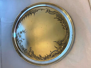 Antique Imperial Russian Silver Tray Moscow 1896