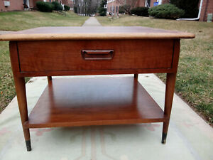 Mid Century Danish Lane Acclaim Ash Walnut Coffee End Table By Andre Bus
