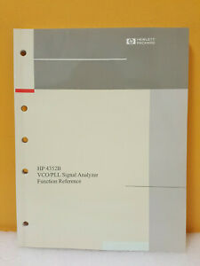 Hp Agilent 04352 90060 4352b Vco pll Signal Analyzer Function Reference Manual