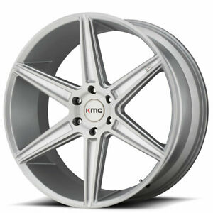 20 Kmc Km712 Prism Brushed Silver Wheels And Tires