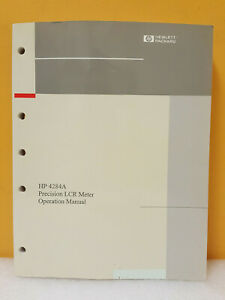 Hp Agilent 04284 90040 4284a Precision Lcr Meter Operation Manual
