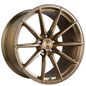 4rims 19 Vertini Wheels Rf1 1 Brushed Bronze Rims Fs
