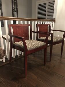 Pair Of Paoli Chair Company Mid Century Modern Mcm Upholstered Armchairs