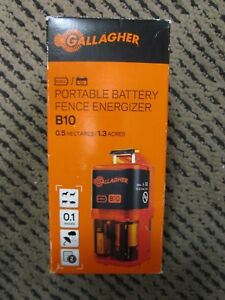 Gallagher Portable Battery Fence Energizer B10 Brand New light Box Dam