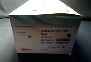 Thermo 12 5ul Cliptip Filter Pipette Tip 10 X 384 Racked Tips Sterile 94420053
