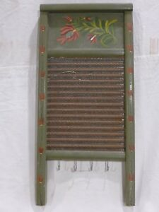 Vintage Washboard Columbus Washboard Co Hand Painted