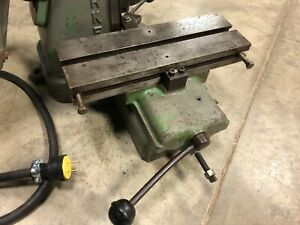 Barker Bench Top Horizontal Milling Machine 110v Vise Riser Rack Gear Model Pm