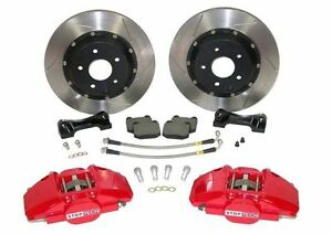 Stoptech For 00 05 Honda S2000 Bbk Front St 40 Red Caliper 328x28 Slotted Rotors